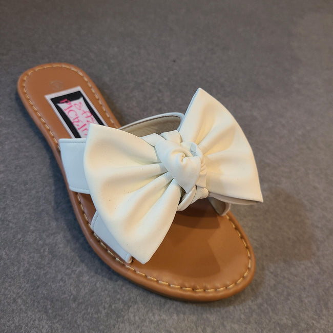 [prodcut_type] - All About Bows Slide Sandal - Easy Pickins