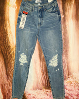 Womens High Rise Ankle Jean