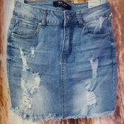 Womens Denim WAX Skirt