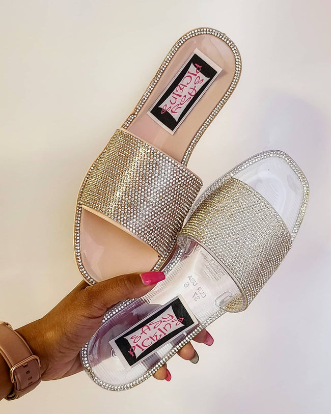 Womens Clear Jelly Sandal