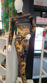 Womens Hermes Printed Catsuit