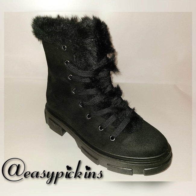 Womens Fur Lined Bootie