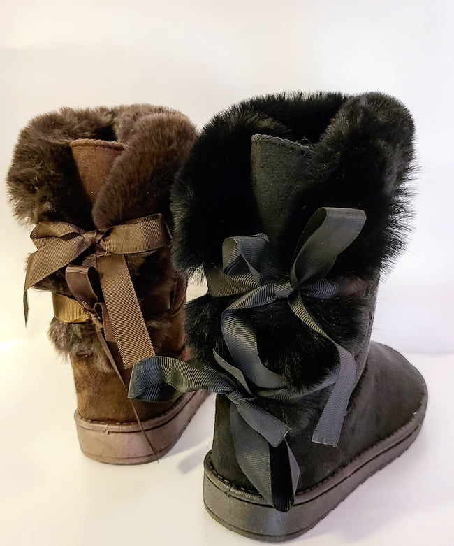 Fur and Bows Bootie