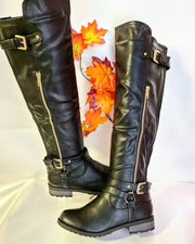 Womens Side Zip Moto Boot