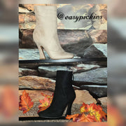 Womens Suede Sassy bootie
