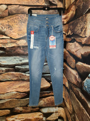 Womens stacked waist denim jean