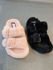 [prodcut_type] - Furry Birked Slide Sandal - Easy Pickins