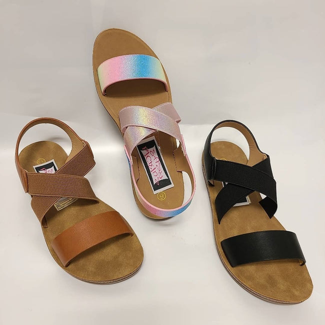 [prodcut_type] - Just Be You Criss Cross Sandals - Easy Pickins