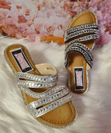 Womens Strapped with Stones Sandals