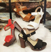 Dressy Belt-Buckle Sandals