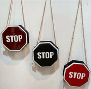 Womens STOP sign Handbag