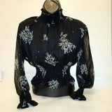 [prodcut_type] - Floral Lurex top - Easy Pickins