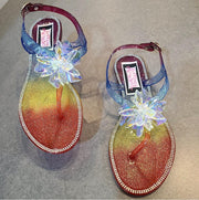 Womens Multi Jelly Thong Sandal