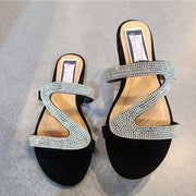 [prodcut_type] - Stoned Snake Swirl Flat Sandals - Easy Pickins