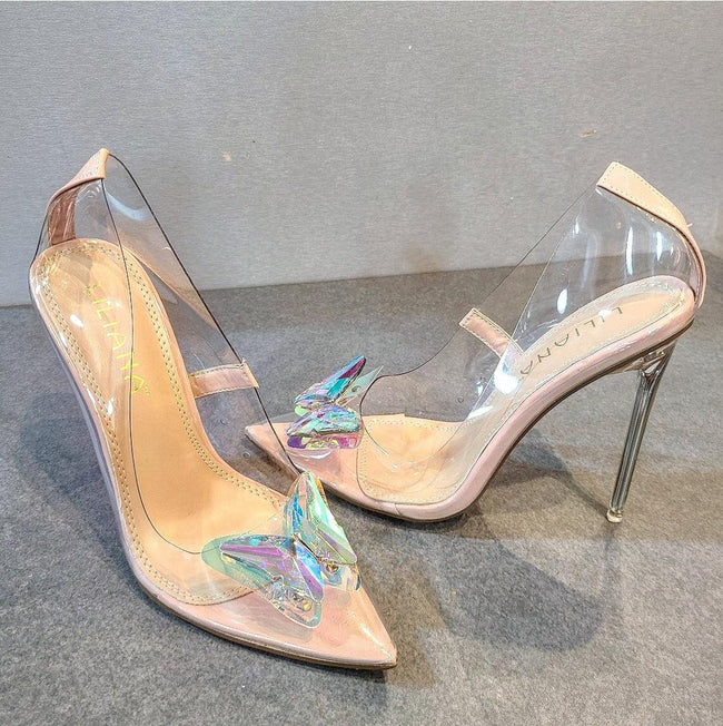 [prodcut_type] - Clearly Yours Transparent Butterfly Pump - Easy Pickins