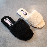 [prodcut_type] - Always Comfy Faux Fur Slide Sandal - Easy Pickins