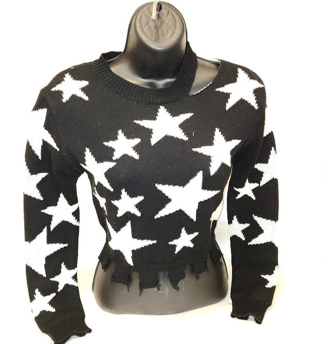 [prodcut_type] - Stars Align Crop Sweater Top - Easy Pickins