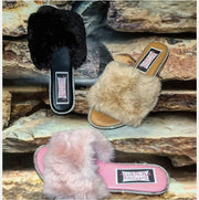 [prodcut_type] - Fur and Glitz Slide Sandal - Easy Pickins