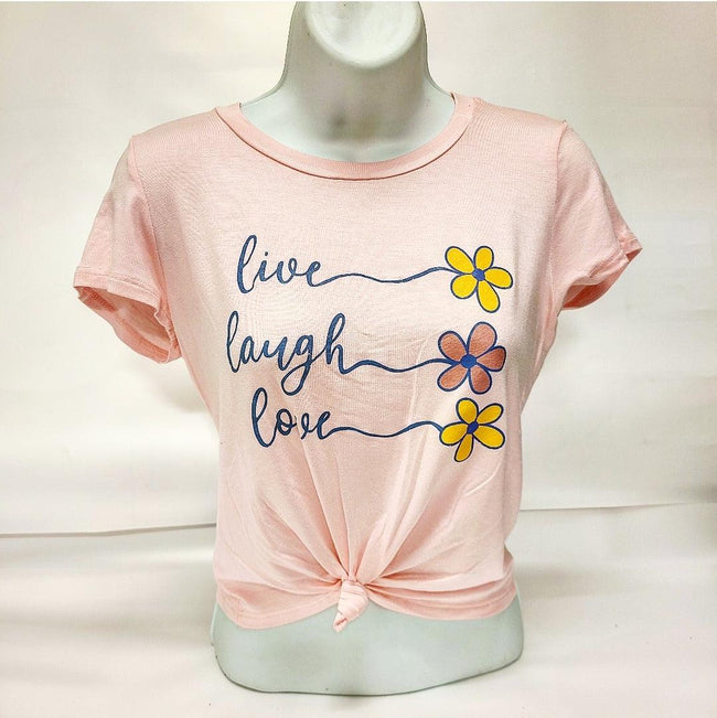 [prodcut_type] - Live Laugh Love Front Screen Tee Shirt - Easy Pickins