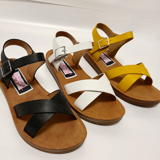 [prodcut_type] - Sunshine Strappy Sandals - Easy Pickins