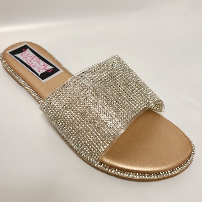 [prodcut_type] - Shine Bright Banded Slide Sandals - Easy Pickins