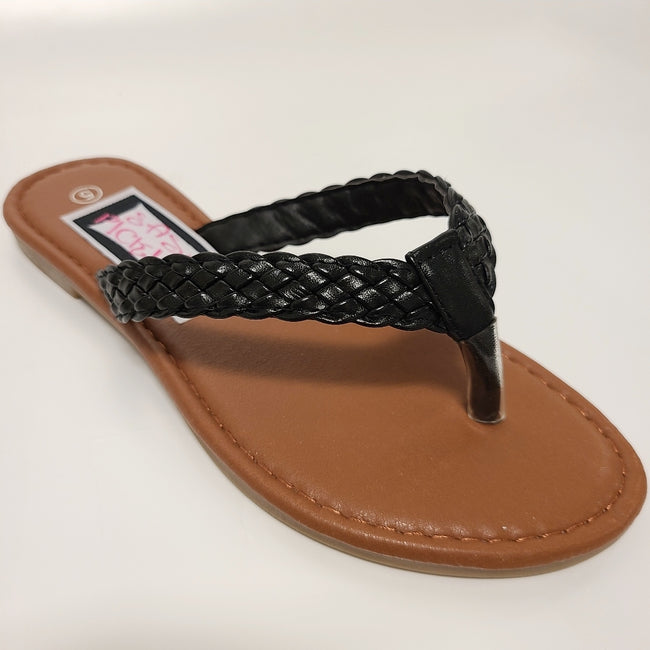 [prodcut_type] - Braided and Beautiful Thong Slide Sandal - Easy Pickins