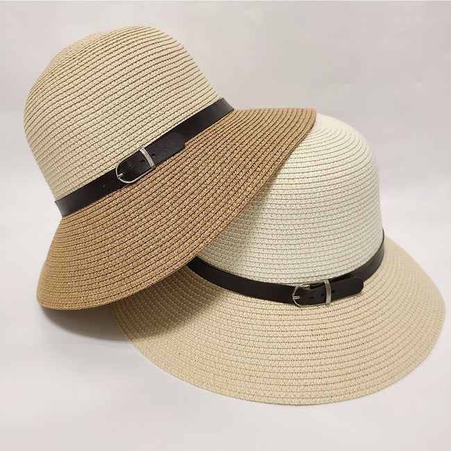 [prodcut_type] - Take Cover Straw Boater Hat - Easy Pickins