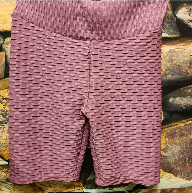 [prodcut_type] - Bubble Knit Waffle Active Biker Short - Easy Pickins