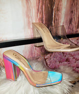 Transparent Thick Heels
