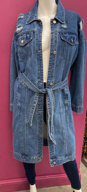 Womens denim trench coat