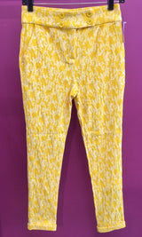 Womens yellow skinny pant