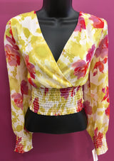 Womens Floral Print woven top