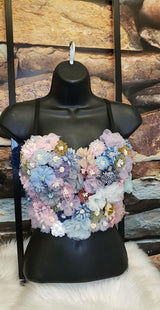womens corset floral