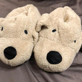 [prodcut_type] - Bow Wow Puppy Dog Faux Fur Slippers - Easy Pickins