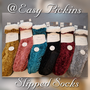 [prodcut_type] - Cozy Chanille Faux Sherpa Slipper Socks - Easy Pickins