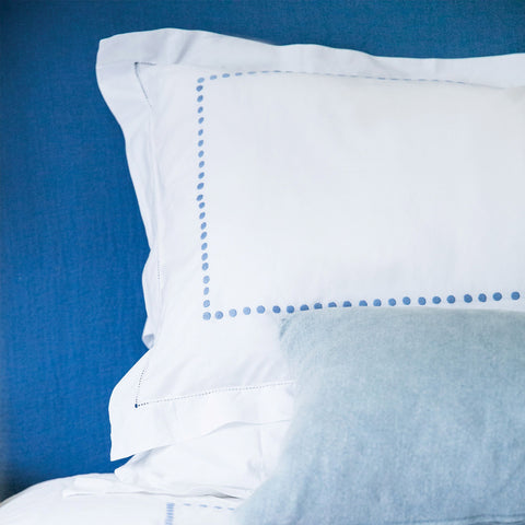 Dot Embroidered Bed Linen