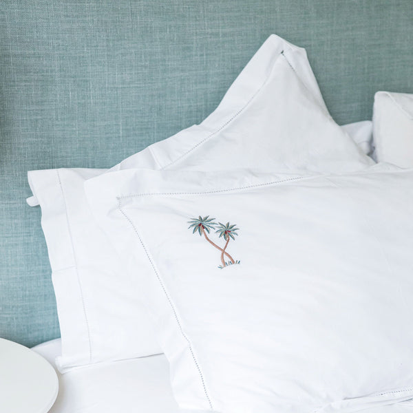 Palm Tree Embroidered Bed Linen