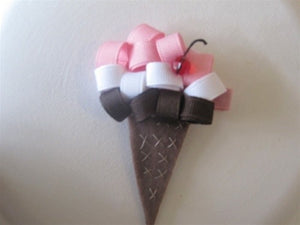 honeypiekids | Ribbon Ice Cream Cone Hair Clip
