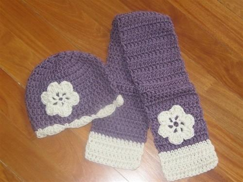 Honeypiekids | Girls Knit Scarf and Hat Set
