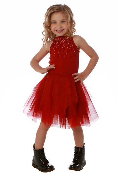 Honeypiekids | Ooh La La Couture Red Carrie Crystal Dress