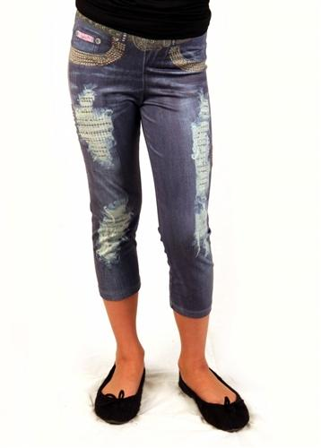 Honeypiekids | Lipstik jean look leggings with stones