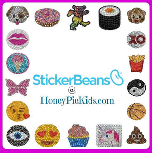 2 Inch Collectible Sticker Beans - Honeypiekids.com
