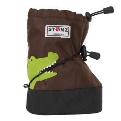 Honeypiekids | Stonz Brown Crocodile Boot