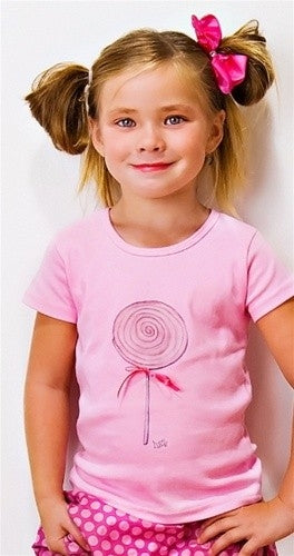 Lollipop ss T shirt by Tiny Turnip