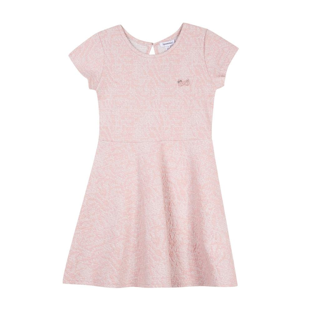 3Pommes Girls Rose Sparkle Short Sleeve Dress | Honeypiekids