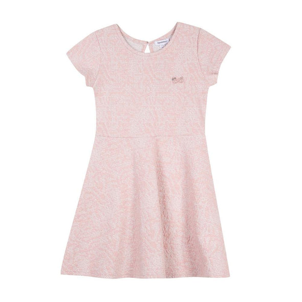 Honeypiekids | 3Pommes Girls Rose Sparkle Short Sleeve Dress