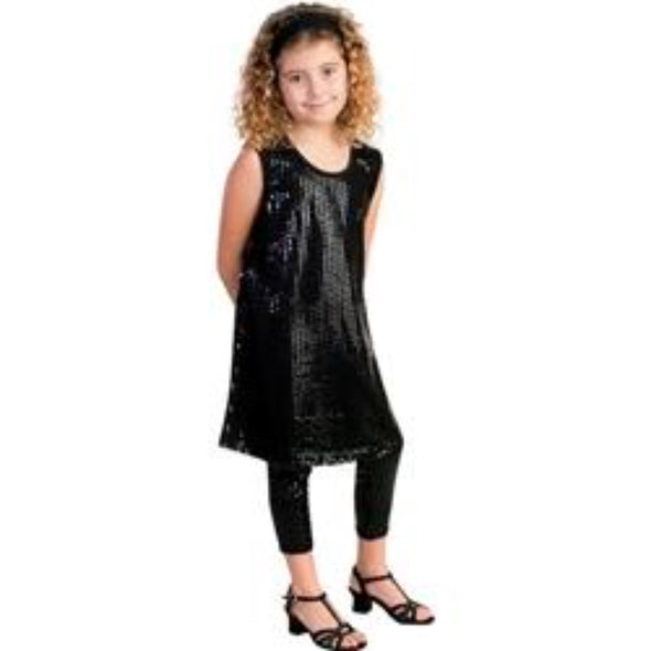 Honeypiekids | ANGELA FROST BLACK TIE SEQUIN DRESS