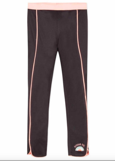Honeypiekids | 3Pommes Girls Black and Peach Sport Capri Leggings