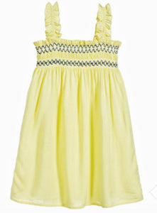 honeypiekids | 3Pommes Girls Yellow Smocked Sun Dress