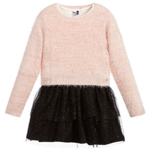 Load image into Gallery viewer, honeypiekids | 3Pommes Girls Pink Sweater & Black Tulle Dress Set